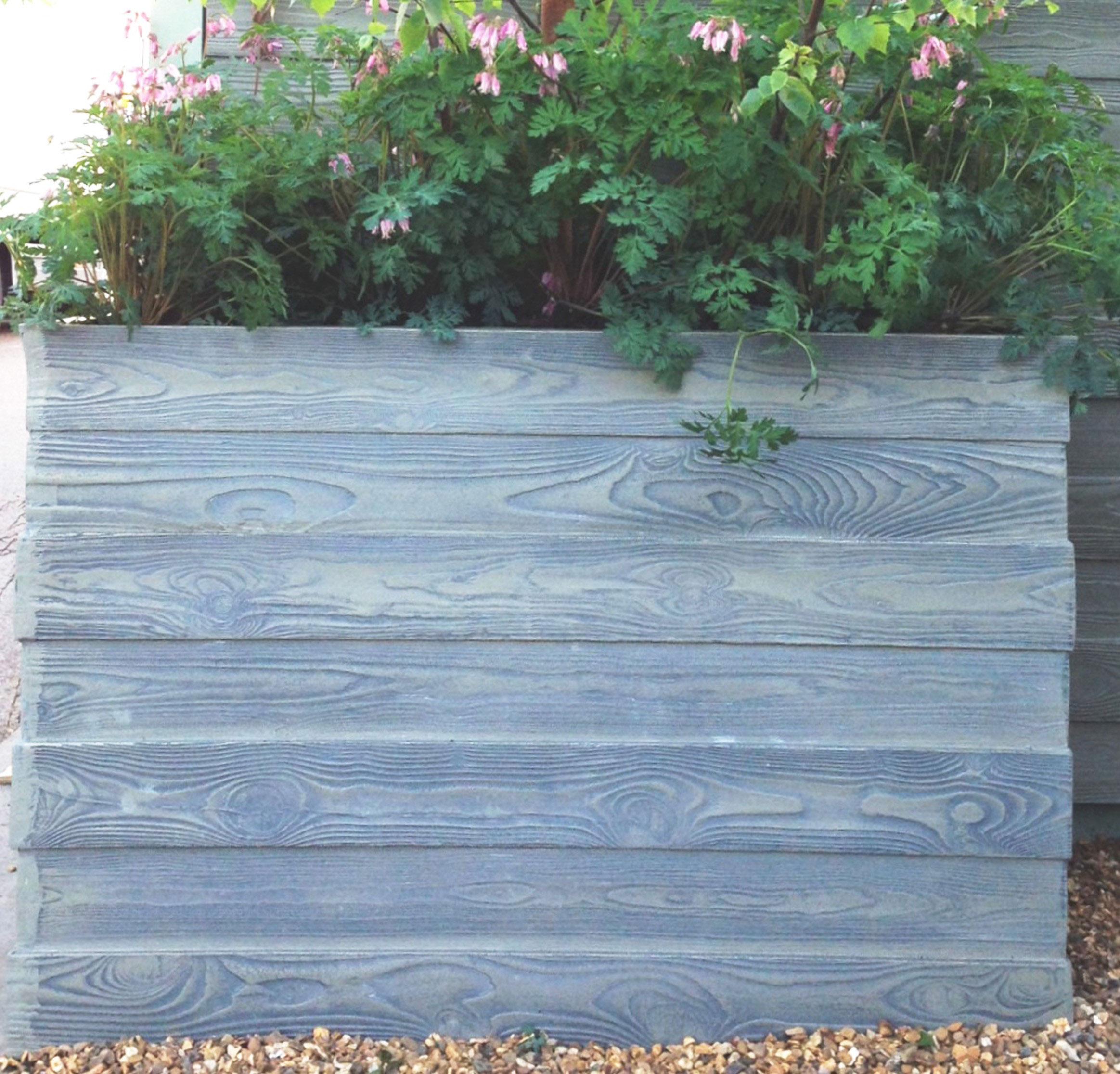 Large Corner L Shaped Wooden Garden Planter Box Trough: Driftwood Planter